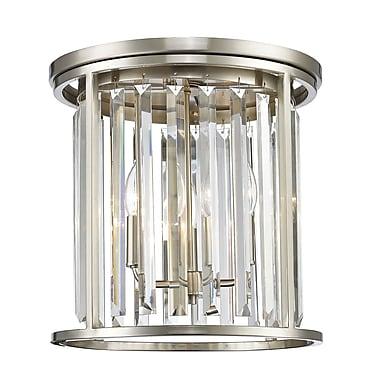 Z-Lite – Plafonnier encastré Monarch 439F14-BN, 3 ampoules, cristal incolore