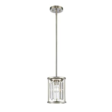 Z-Lite 439MP-BN Monarch Mini Pendant, 1 Bulb, Clear Crystal