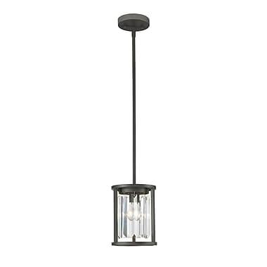Z-Lite – Mini luminaire suspendu Monarch 439MP-BRZ, 1 ampoule, cristal incolore