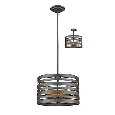 Z-Lite – Lampe suspendue Memphis 441-16BRZ, 3 ampoules,