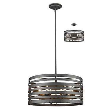 Z-Lite – Lampe suspendue Memphis 441-24BRZ, 6 ampoules,