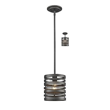 Z-Lite – Mini lampe suspendue Memphis 441MP-BRZ, 1 ampoule,
