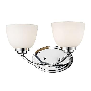 Z-Lite – Luminaire d'ambiance Ashton 443-2V-CH, 2 ampoules, verre opale mat