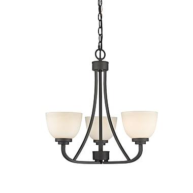 Z-Lite – Lustre Ashton 443-3-BRZ, 3 ampoules, verre opale mat