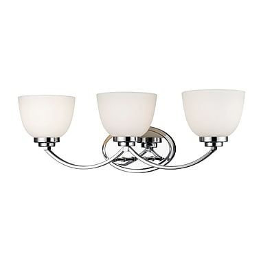 Z-Lite – Luminaire d'ambiance Ashton 443-3V-CH, 3 ampoules, verre opale mat