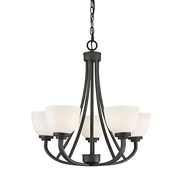 Z-Lite – Lustre Ashton 443-5-BRZ, 5 ampoules, verre opale mat