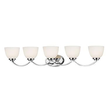 Z-Lite – Luminaire d'ambiance Ashton 443-5V-CH, 5 ampoules, verre opale mat