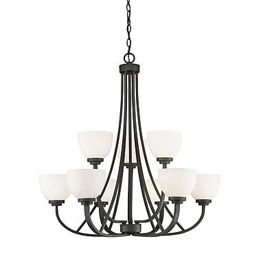 Z-Lite – Lustre Ashton 443-9-BRZ, 9 ampoules, verre opale mat