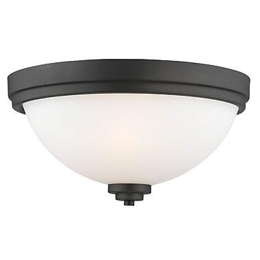 Z-Lite 443F3-BRZ Ashton Flush Mount, 3 Bulb, Matte Opal Glass