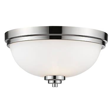 Z-Lite – Plafonnier Ashton 443F3-CH, 3 ampoules, verre opale mat