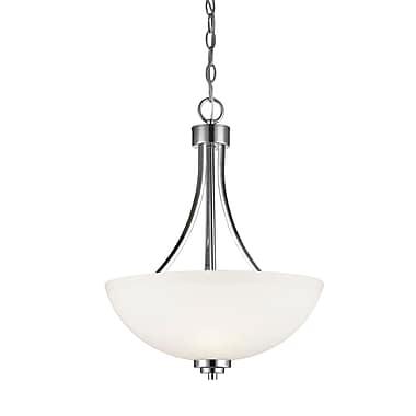 Z-Lite – Luminaire suspendu Ashton 443P-CH, 3 ampoules, verre opale mat