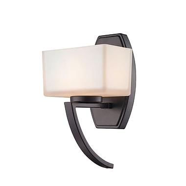Z-Lite 614-1SBRZ Cardine Wall Sconce, 1 Bulb, Matte Opal Glass