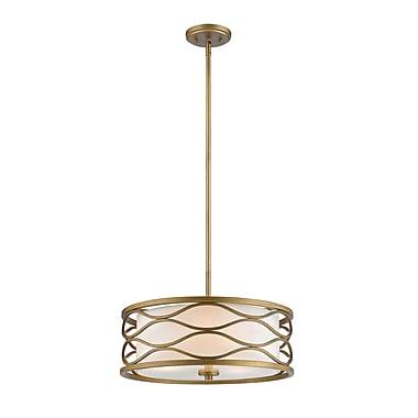 Z-Lite – Lampe suspendue Severine 615-16OG, 3 ampoules, tissu blanc