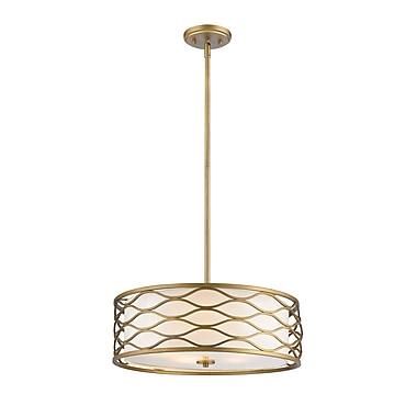 Z-Lite – Lampe suspendue Severine 615-24OG, 5 ampoules, tissu blanc