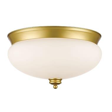 Z-Lite 721F3-SG Amon Flush Mount, 3 Bulb, Matte Opal Glass
