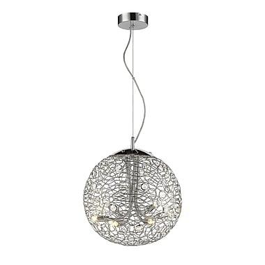 Z-Lite – Luminaire suspendu Nabul 889CH-14, 6 ampoules, acier chromé + cristal