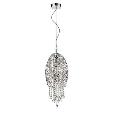 Z-Lite – Luminaire suspendu Nabul 889CH-3C, 3 ampoules, acier chromé + cristal