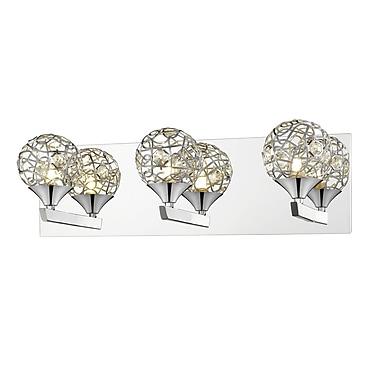 Z-Lite – Luminaire d'ambiance Nabul 889CH-3V, 3 ampoules, acier chromé + cristal