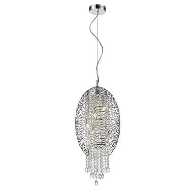 Z-Lite – Luminaire suspendu Nabul 889CH-5C, 5 ampoules, acier chromé + cristal