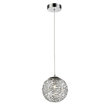 Z-Lite – Mini luminaire suspendu Nabul 889CH-8MP, 1 ampoule, acier chromé et cristal