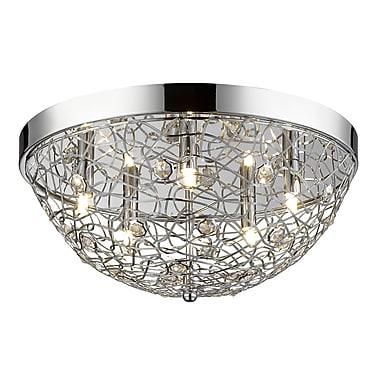 Z-Lite – Plafonnier encastré Nabul 889CHF18, 5 ampoules, acier chromé et cristal