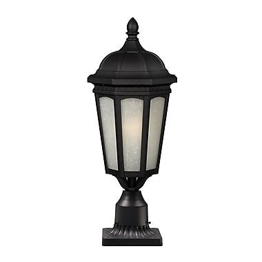 Z-Lite 508PHB-BK-PM Newport Outdoor, 1 bulb, White Seedy Glass