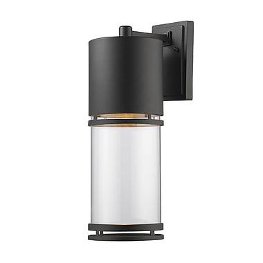 Z-Lite 553B-BK-LED Luminata Outdoor, 1 Module bulb, Clear Glass