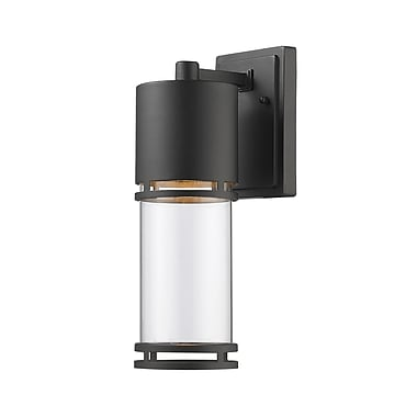 Z-Lite 553M-BK-LED Luminata Outdoor, 1 Module bulb, Clear Glass