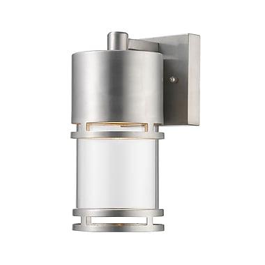 Z-Lite – Applique murale Luminata pour l'extérieur 553S-BA-DEL, 1 module ampoule, verre transparent