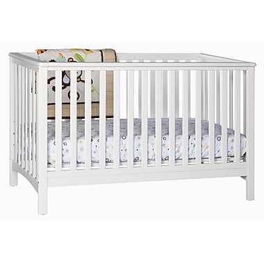 Stork Craft Hillcrest Fixed Side Convertible Crib, White, (AD904520-031)