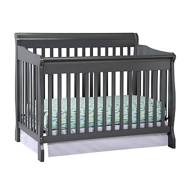 Stork Craft Modena Fix Side Convertible Crib, Grey, (AD904587-45G)