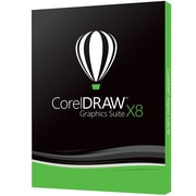 CorelDRAW Graphics Suite X8, 1 utilisateur, Windows, bilingue