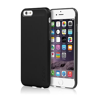 Incipio Feather Shine Ultra-Thin Snap-On Case with Brushed Aluminum Finish for iPhone 6, Black, (IPH1178BLK)