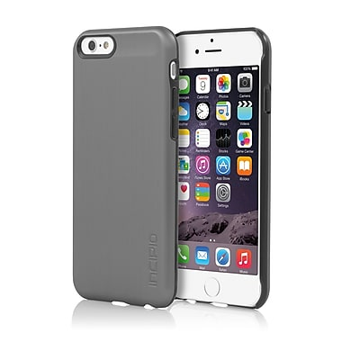 Incipio - Étui Feather Shine ultra-mince à enclenchement au fini aluminium brossé pour iPhone 6 - gris métallique, (IPH1178GMTL)