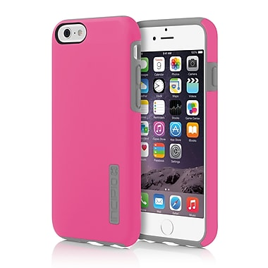 Incipio DualPro Hard-Shell Case with Impact- Absorbing Core for iPhone 6, Pink/Charcoal, (IPH1179PNKGRY)
