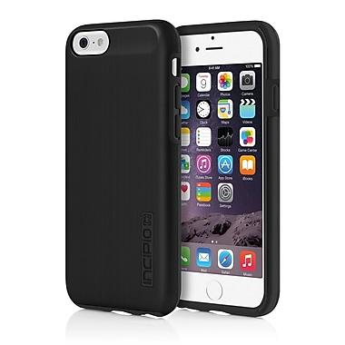 Incipio - Étui de protection double couche DualPro Shine avec fini aluminium brossé pour iPhone 6 - noir/noir, (IPH1180BLK)