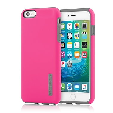 Incipio DualPro Hard-Shell Case with Impact- Absorbing Core for iPhone 6 Plus, Pink/Charcoal, (IPH1195PNKGRY)