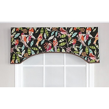 RLF Home Tweetie Text Arch Curtain Valance; Ink