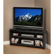 PrepacMC – Meuble pour téléviseur en coin Vasari pour téléviseur à écran plat plasma/ACL de 50 po, noir