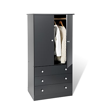 PrepacMC – Armoire à 3 tiroirs Edenvale, 60 po, noir