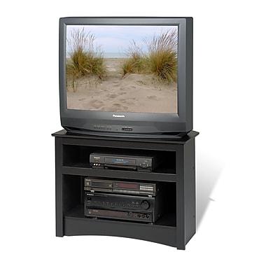 PrepacMC – Meuble en coin Sonoma pour téléviseur à écran plat ACL/TRC de 32 po, noir