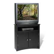 PrepacMC – Grande armoire en coin Sonoma pour téléviseur à écran plat ACL/TRC de 32 po, noir