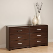 "Prepac™ 29-1/2"" Coal Harbor 6 Drawer Dresser, Espresso"