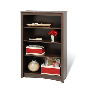 Prepac™ 4 Shelf Bookcase, Espresso