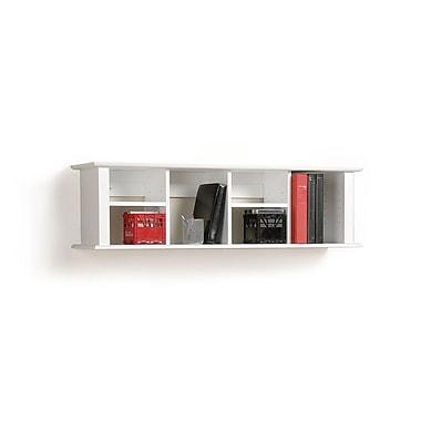 PrepacMC – Étagère de bureau montée au mur, 48 x 11 1/2 (po), blanc