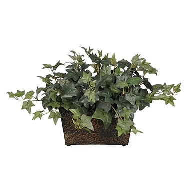 House of Silk Flowers Artificial English Ivy Desk Top Plant in Decorative Vase