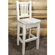 Montana Woodworks  Homestead 30'' Bar Stool; Clear Lacquer Finish