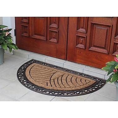 A1 Home Collections LLC Elegant Half-round Double Doormat