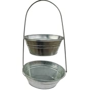Craft Outlet Two-Tier Metal Container