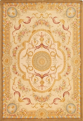 Pasargad Savonnerie Traditional Lamb's Wool Area Rug; Rectangle 10' x 14'